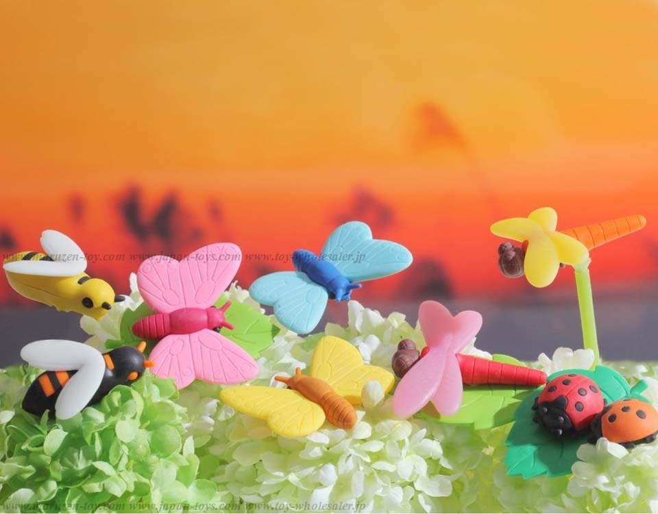 Insect Erasers -Iwako Made in Japan- (Colors/Designes/Assortments may changed without Notice)