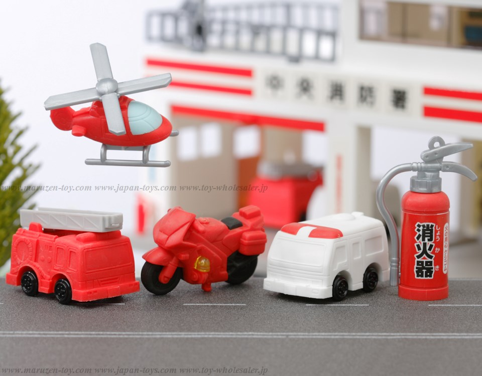 (IWAKO)-made in JAPAN-Firefighting Erasers(Colors/Designes/Assortments may changed without Notice)