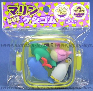(IWAKO)(ER-981202)-made in JAPAN-Erasers in display box - Marine(Colors/Designes/Assortments may changed without Notice)