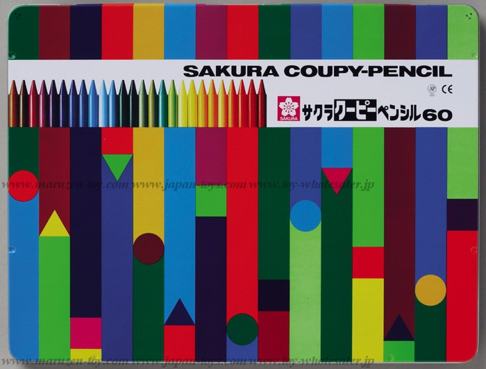 Sakura Color Products Corp - Coupy Pencil 60 Colors