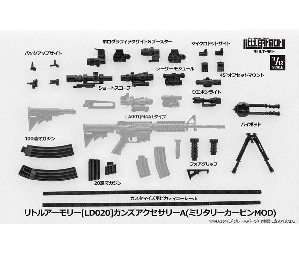 [Tomytec] Littlearmory (LD020) Guns Accessories A