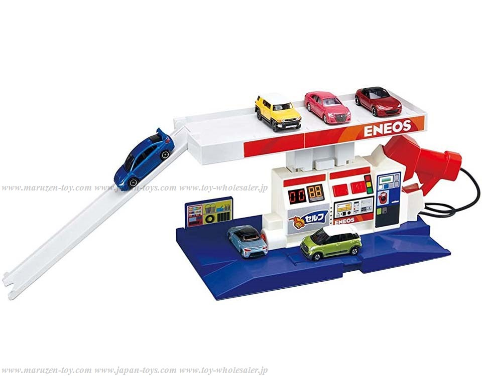 [TakaraTomy] Tomica Job Trial A Lot of Sound! BuruBuru Gas Stand (ENEOS)